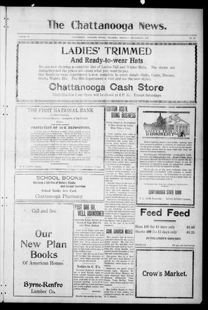 Primary view of object titled 'The Chattanooga News. (Chattanooga, Okla.), Vol. 16, No. 28, Ed. 1 Thursday, September 8, 1921'.