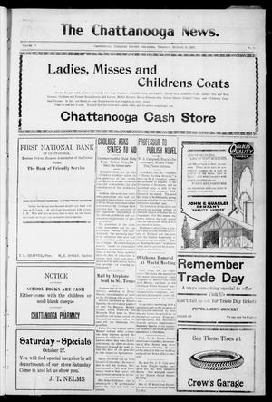 Primary view of object titled 'The Chattanooga News. (Chattanooga, Okla.), Vol. 18, No. 35, Ed. 1 Thursday, October 25, 1923'.
