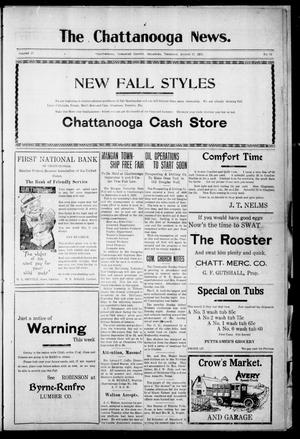 Primary view of object titled 'The Chattanooga News. (Chattanooga, Okla.), Vol. 17, No. 25, Ed. 1 Thursday, August 17, 1922'.