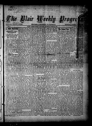 Primary view of object titled 'The Blair Weekly Progress (Blair, Okla.), Vol. 9, Ed. 1 Thursday, March 20, 1913'.