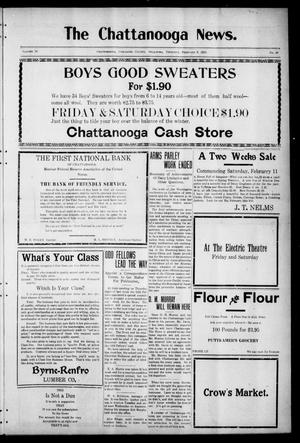 Primary view of object titled 'The Chattanooga News. (Chattanooga, Okla.), Vol. 16, No. 50, Ed. 1 Thursday, February 9, 1922'.