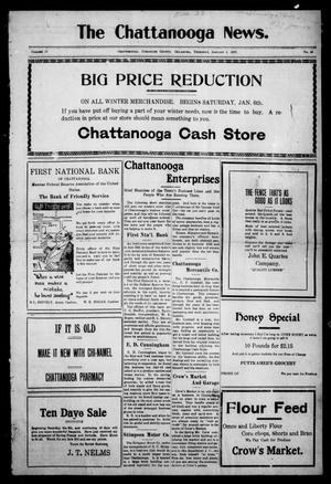 Primary view of object titled 'The Chattanooga News. (Chattanooga, Okla.), Vol. 17, No. 45, Ed. 1 Thursday, January 4, 1923'.