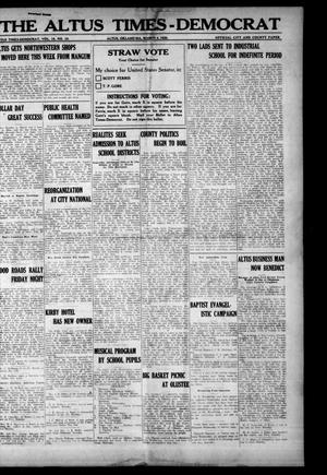 Primary view of object titled 'The Altus Times-Democrat (Altus, Okla.), Vol. 18, No. 10, Ed. 1 Thursday, March 4, 1920'.