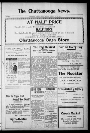 Primary view of object titled 'The Chattanooga News. (Chattanooga, Okla.), Vol. 17, No. 13, Ed. 1 Thursday, May 25, 1922'.