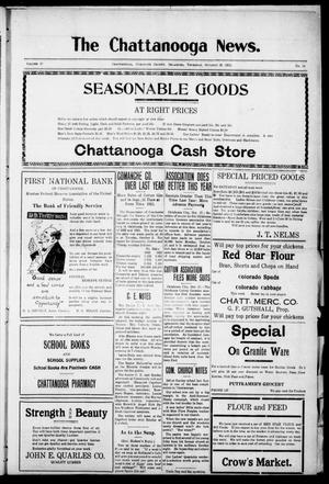 Primary view of object titled 'The Chattanooga News. (Chattanooga, Okla.), Vol. 17, No. 34, Ed. 1 Thursday, October 19, 1922'.