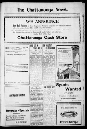 Primary view of object titled 'The Chattanooga News. (Chattanooga, Okla.), Vol. 18, No. 27, Ed. 1 Thursday, August 30, 1923'.