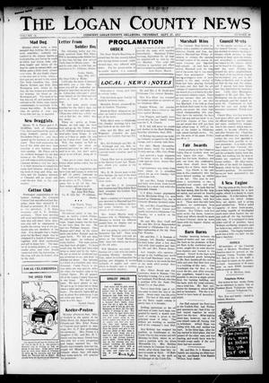 Primary view of object titled 'The Logan County News (Crescent, Okla.), Vol. 14, No. 46, Ed. 1 Thursday, September 27, 1917'.