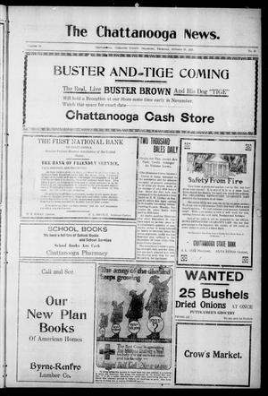 Primary view of object titled 'The Chattanooga News. (Chattanooga, Okla.), Vol. 16, No. 33, Ed. 1 Thursday, October 13, 1921'.