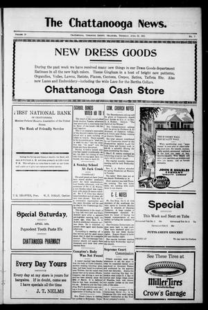 Primary view of object titled 'The Chattanooga News. (Chattanooga, Okla.), Vol. 18, No. 7, Ed. 1 Thursday, April 12, 1923'.