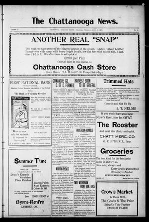 Primary view of object titled 'The Chattanooga News. (Chattanooga, Okla.), Vol. 17, No. 16, Ed. 1 Thursday, June 15, 1922'.