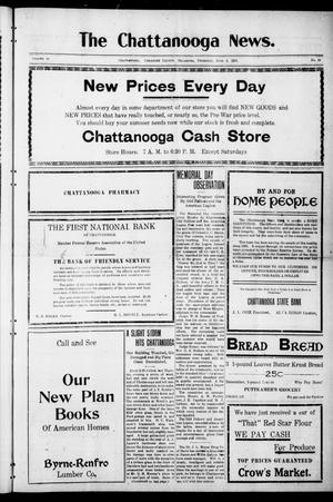 Primary view of object titled 'The Chattanooga News. (Chattanooga, Okla.), Vol. 16, No. 14, Ed. 1 Thursday, June 2, 1921'.