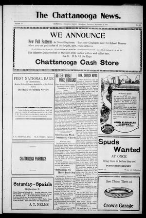 Primary view of object titled 'The Chattanooga News. (Chattanooga, Okla.), Vol. 18, No. 28, Ed. 1 Thursday, September 6, 1923'.