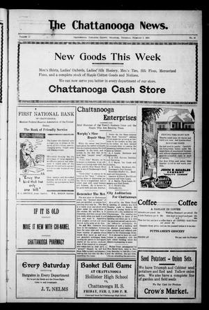 Primary view of object titled 'The Chattanooga News. (Chattanooga, Okla.), Vol. 17, No. 49, Ed. 1 Thursday, February 1, 1923'.