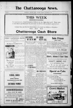 Primary view of object titled 'The Chattanooga News. (Chattanooga, Okla.), Vol. 17, No. 30, Ed. 1 Thursday, September 21, 1922'.