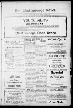 Primary view of object titled 'The Chattanooga News. (Chattanooga, Okla.), Vol. 17, No. 37, Ed. 1 Thursday, November 9, 1922'.