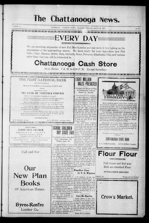 Primary view of object titled 'The Chattanooga News. (Chattanooga, Okla.), Vol. 16, No. 25, Ed. 1 Thursday, August 18, 1921'.