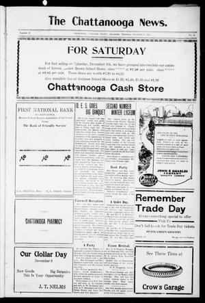 Primary view of object titled 'The Chattanooga News. (Chattanooga, Okla.), Vol. 18, No. 41, Ed. 1 Thursday, December 6, 1923'.