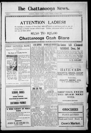 Primary view of object titled 'The Chattanooga News. (Chattanooga, Okla.), Vol. 17, No. 41, Ed. 1 Thursday, December 7, 1922'.