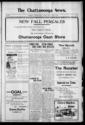 Primary view of object titled 'The Chattanooga News. (Chattanooga, Okla.), Vol. 17, No. 23, Ed. 1 Thursday, August 3, 1922'.