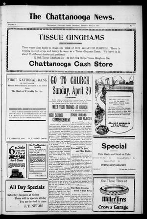 Primary view of object titled 'The Chattanooga News. (Chattanooga, Okla.), Vol. 18, No. 9, Ed. 1 Thursday, April 26, 1923'.