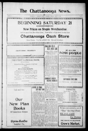 Primary view of object titled 'The Chattanooga News. (Chattanooga, Okla.), Vol. 16, No. 12, Ed. 1 Thursday, May 19, 1921'.
