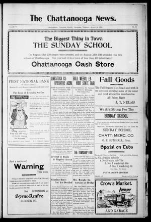 Primary view of object titled 'The Chattanooga News. (Chattanooga, Okla.), Vol. 17, No. 26, Ed. 1 Thursday, August 24, 1922'.