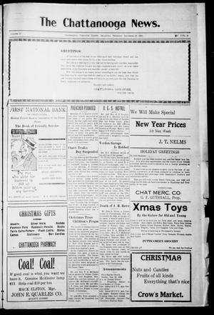 Primary view of object titled 'The Chattanooga News. (Chattanooga, Okla.), Vol. 17, No. 44, Ed. 1 Thursday, December 28, 1922'.