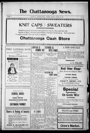 Primary view of object titled 'The Chattanooga News. (Chattanooga, Okla.), Vol. 17, No. 35, Ed. 1 Thursday, October 26, 1922'.