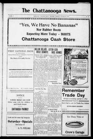 Primary view of object titled 'The Chattanooga News. (Chattanooga, Okla.), Vol. 18, No. 38, Ed. 1 Thursday, November 15, 1923'.