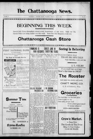 Primary view of object titled 'The Chattanooga News. (Chattanooga, Okla.), Vol. 17, No. 19, Ed. 1 Thursday, July 6, 1922'.