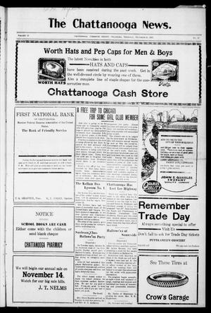 Primary view of object titled 'The Chattanooga News. (Chattanooga, Okla.), Vol. 18, No. 37, Ed. 1 Thursday, November 8, 1923'.