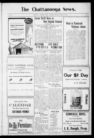 Primary view of object titled 'The Chattanooga News. (Chattanooga, Okla.), Vol. 18, No. 49, Ed. 1 Thursday, January 31, 1924'.