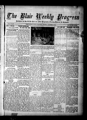 Primary view of object titled 'The Blair Weekly Progress (Blair, Okla.), Vol. 9, No. 27, Ed. 1 Thursday, December 12, 1912'.