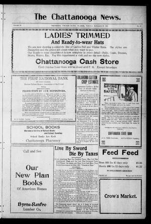 Primary view of object titled 'The Chattanooga News. (Chattanooga, Okla.), Vol. 16, No. 29, Ed. 1 Thursday, September 15, 1921'.