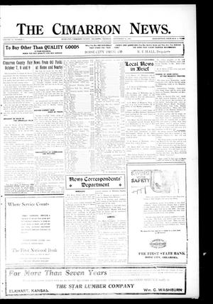 Primary view of object titled 'The Cimarron News. (Boise City, Okla.), Vol. 23, No. 7, Ed. 1 Thursday, September 16, 1920'.