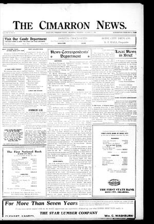 Primary view of object titled 'The Cimarron News. (Boise City, Okla.), Vol. 23, No. 12, Ed. 1 Thursday, October 21, 1920'.