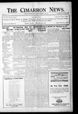 Primary view of object titled 'The Cimarron News. (Boise City, Okla.), Vol. 23, No. 45, Ed. 1 Thursday, June 9, 1921'.