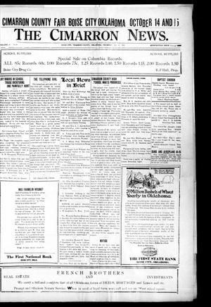 Primary view of object titled 'The Cimarron News. (Boise City, Okla.), Vol. 24, No. 10, Ed. 1 Thursday, October 6, 1921'.