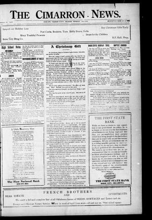 Primary view of object titled 'The Cimarron News. (Boise City, Okla.), Vol. 24, No. 19, Ed. 1 Thursday, December 8, 1921'.