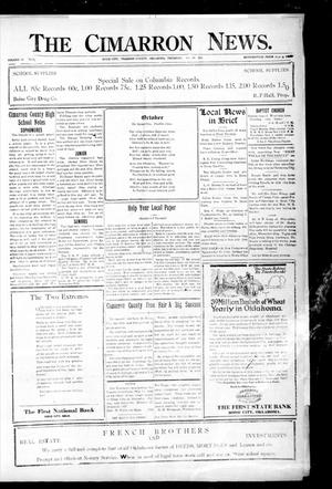 Primary view of object titled 'The Cimarron News. (Boise City, Okla.), Vol. 24, No. 12, Ed. 1 Thursday, October 20, 1921'.