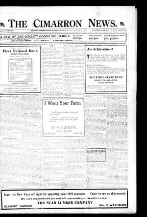 Primary view of The Cimarron News. (Boise City, Okla.), Vol. 21, No. 26, Ed. 1 Thursday, January 29, 1920