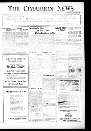 Primary view of object titled 'The Cimarron News. (Boise City, Okla.), Vol. 23, No. 36, Ed. 1 Thursday, April 7, 1921'.