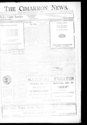 Primary view of object titled 'The Cimarron News. (Boise City, Okla.), Vol. 21, No. 46, Ed. 2 Thursday, June 17, 1920'.