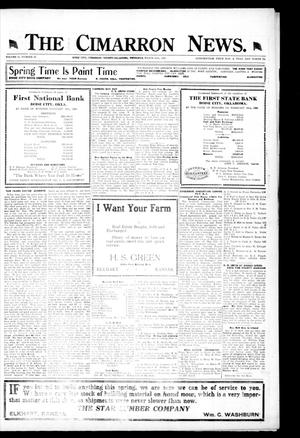 Primary view of object titled 'The Cimarron News. (Boise City, Okla.), Vol. 21, No. 34, Ed. 1 Thursday, March 25, 1920'.