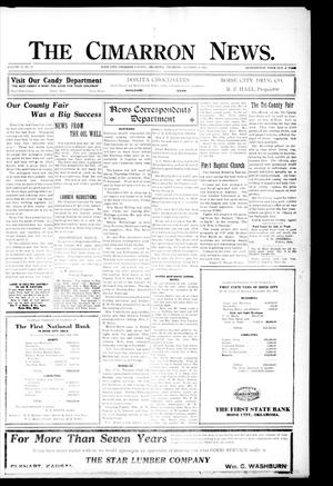 Primary view of object titled 'The Cimarron News. (Boise City, Okla.), Vol. 23, No. 11, Ed. 1 Thursday, October 14, 1920'.