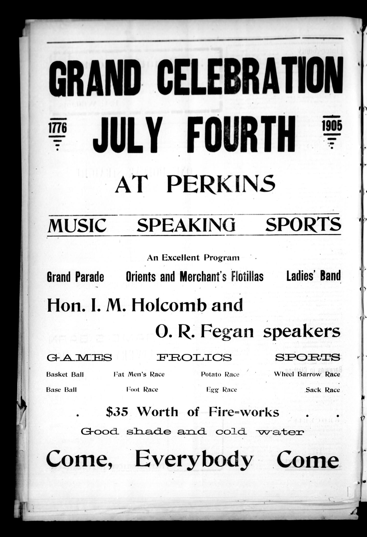 The People's Press. (Perkins, Okla.), Vol. 1, No. 19, Ed. 1 Thursday, June 22, 1905                                                                                                      [Sequence #]: 4 of 6