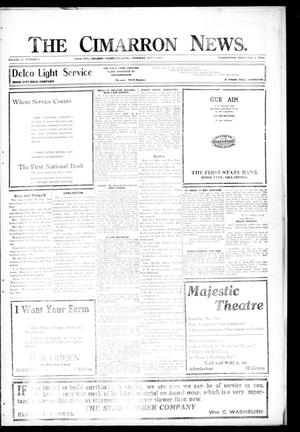 Primary view of object titled 'The Cimarron News. (Boise City, Okla.), Vol. 21, No. 43, Ed. 1 Thursday, May 27, 1920'.