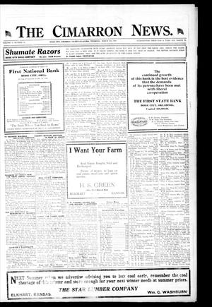Primary view of object titled 'The Cimarron News. (Boise City, Okla.), Vol. 21, No. 31, Ed. 1 Thursday, March 4, 1920'.