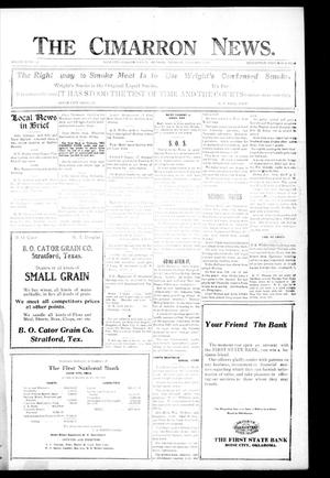 Primary view of object titled 'The Cimarron News. (Boise City, Okla.), Vol. 23, No. 29, Ed. 1 Thursday, February 17, 1921'.