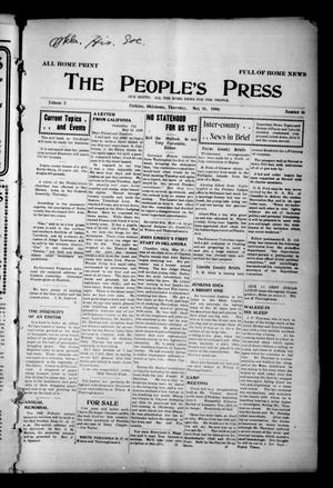 Primary view of object titled 'The People's Press (Perkins, Okla.), Vol. 2, No. 16, Ed. 1 Thursday, May 31, 1906'.